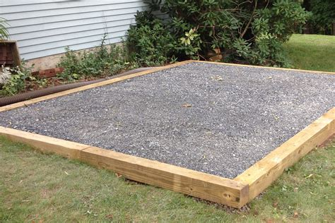 Shed Base Preparation ideas for gravel pad for shed concrete pad for garages