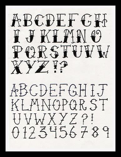 tattoo fonts old school school alphabet as someone who is interested