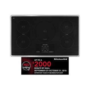 kitchenaid 36 quot electric induction cooktop sears