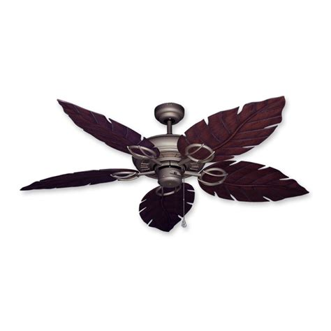 White Leaf Ceiling Fan by Gulf Coast Fans Ceiling Fan In Antique Bronze W
