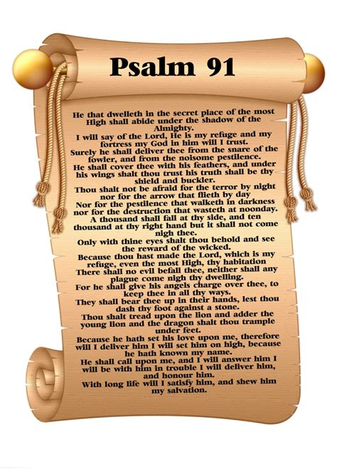 printable version psalm 91 psalm 91 prayer pictures to pin on pinterest pinsdaddy