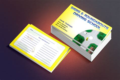 School Driver Business Card Template by Professional Business Business Card Design For A