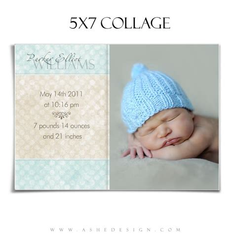 collage template baby ashedesign elliot 5x7 baby boy collage ashedesign