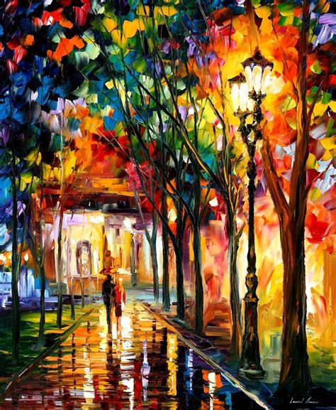 leonid afremov on canvas palette knife buy original paintings artist