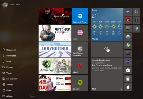 game design where to start 6 ways to hack customize the windows 10 start menu