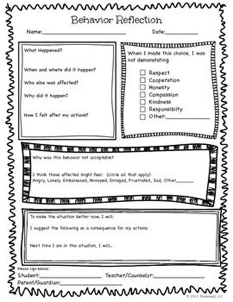 Apology Letter Template For Elementary Students Best 25 Behavior Reflection Ideas On Behavior