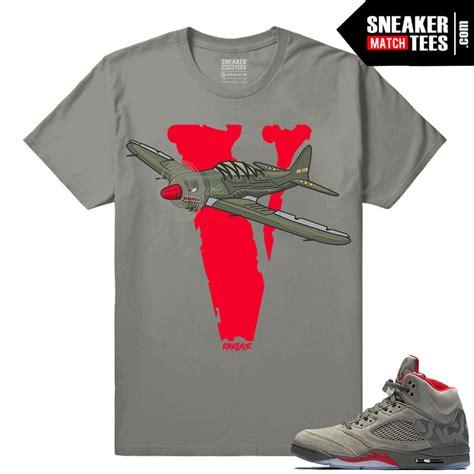 Matching Camo Shirts Camo 5s Sneaker Matching Shirts Air Retro 5 Collection