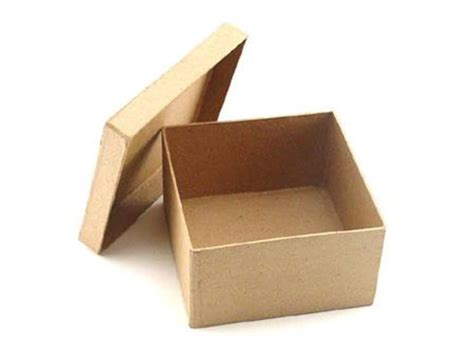 Craft Paper Mache Boxes - paper mache square box 4 1 2 in by craft pedlars 24