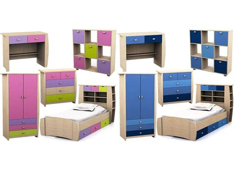 childrens bedroom sets with desks childrens pink or blue bedroom furniture bed wardrobe