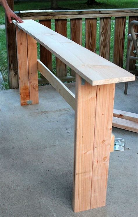 simple diy sofa table tutorial