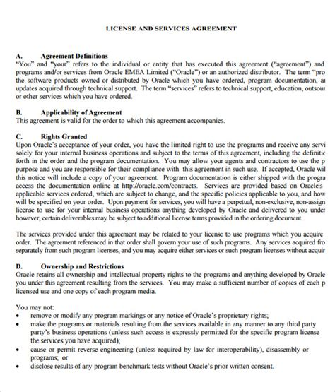 content license agreement template sle licensing agreement 5 documents in pdf word
