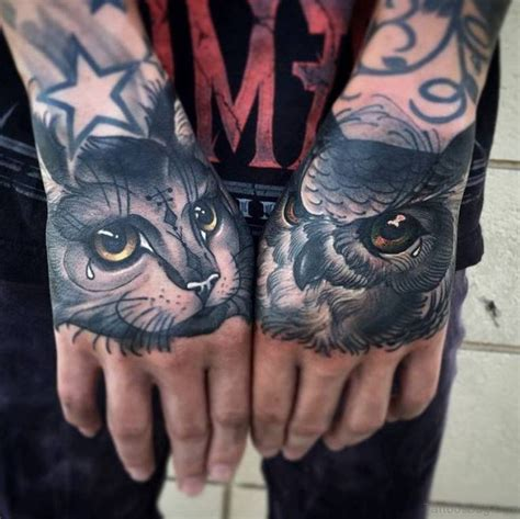 owl hand tattoo 61 wonderful owl tattoos on