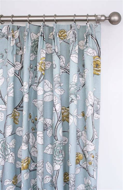 Gray Floral Curtains Blue Yellow And Grey Floral Drapes By Www Tonicliving Curtains Drapes By Tonic Living