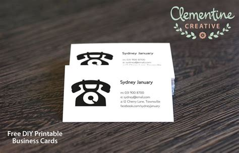 Business Templates Free Just Fill In Try Out This Printable Calling Card Business Card For Free