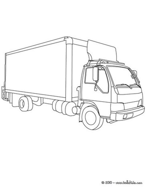 coloring page delivery truck delivery truck coloring pages hellokids com