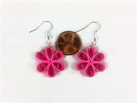 Paper Craft Earrings - paper craft quilled flower earrings marissa agnew