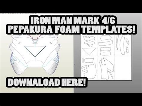 pepakura foam templates pin by damian beurer on pepakura