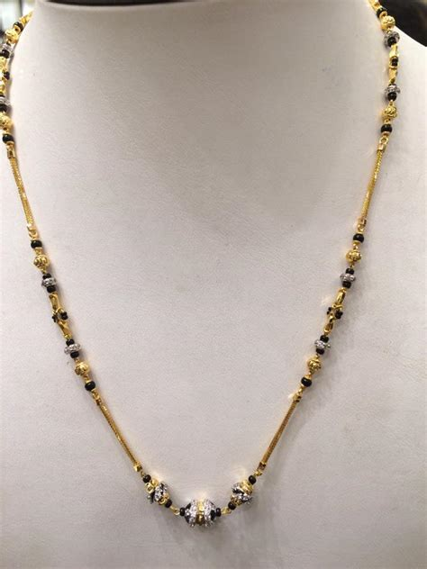 designs of black bead chains black mangalsutra collection