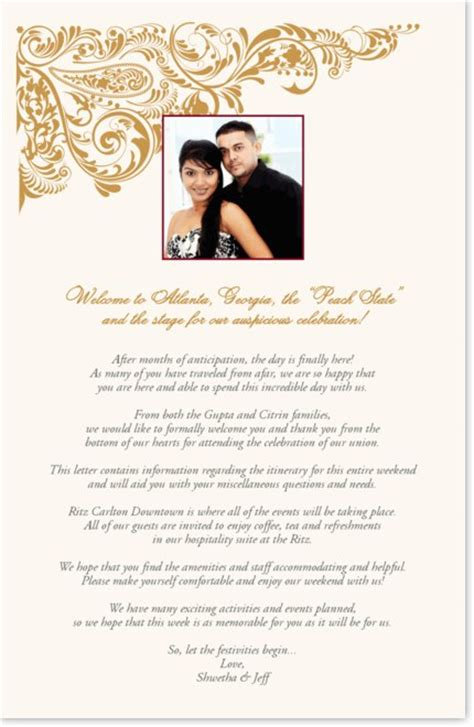 Indian Wedding Welcome Letter Paisley Pattern Indian Wedding Program Book Documents And Designs Indian Wedding Itinerary Template