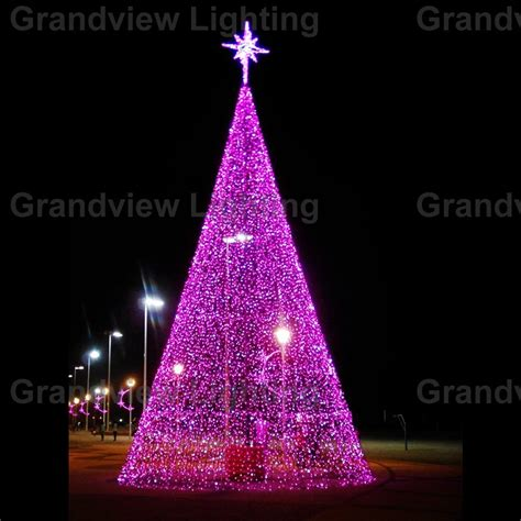 outdoor colorful large led decoration christmas tree light