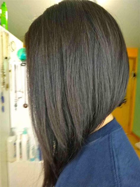 hair bob medium real long in the front short in the back black women long angled bob hair pinterest bobs search and long
