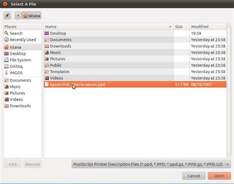 Printer Epson Jadul install printer epson lx 800 di ubuntu istana media