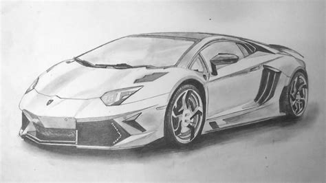 Sourcewing Lamborghini Aventador Pencil Sketch