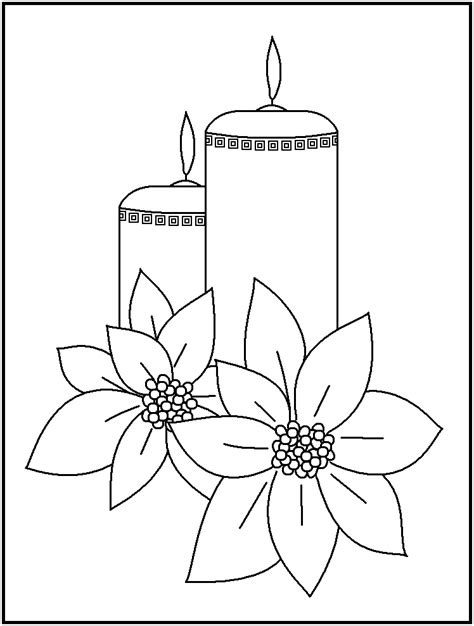 free christmas candles coloring pages coloring home