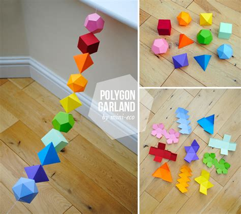 paper crafting tutorials how to diy colorful geometric garland from template www