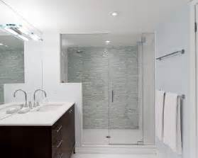 Inspiration for a contemporary bathroom remodel in toronto with an