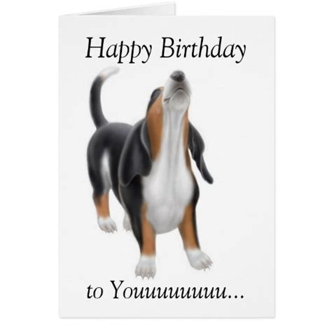 how to make a singing birthday card happy birthday singing basset hound card zazzle