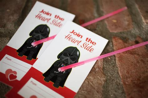 printable star wars valentines with glow stick star wars valentines free printable valentine s day cards