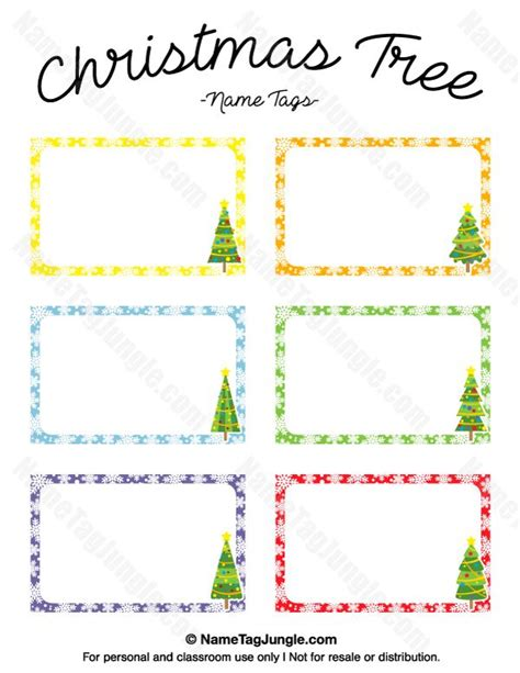 free printable christmas tree place cards free printable christmas tree name tags the template can