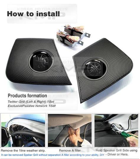 Speaker Twiter car audio stereo sound pair speaker for kia 2011 2013 optima k5 ebay