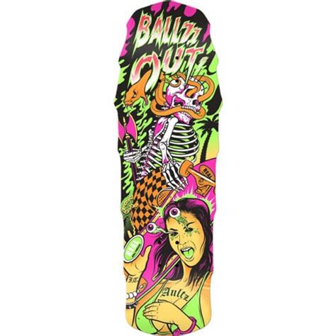 Awesome Skateboard Deck by Real Aultz Psycho Awesome 2 Large Skateboard Deck Evo Outlet