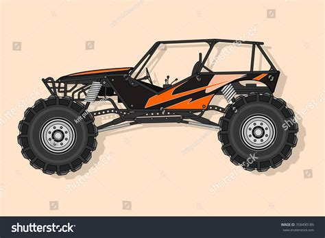 baja buggy 4x4 off road buggy 4x4 vector stock vector 358490189