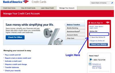 bank of america credit card login bank of america credit cards login apply
