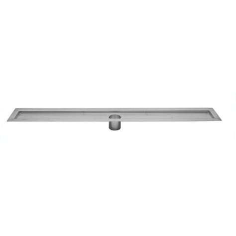 Linear Shower Drain Home Depot by Linear Channel Shower Drains 48 In Shower Drain Flanged