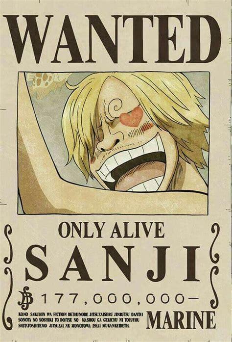 wanted sanji  piece pinterest anime manga
