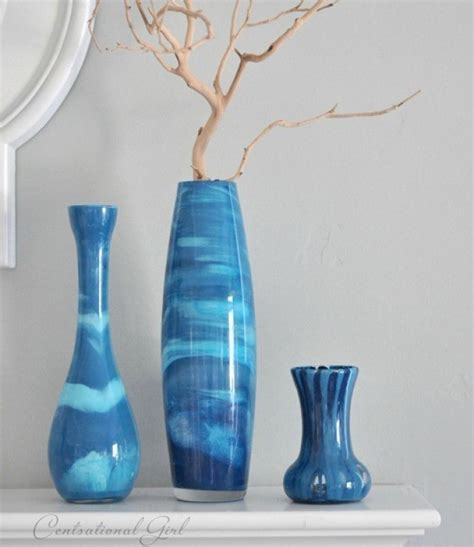 How To Paint Inside Glass Vases by Craft Of The Day Paint Swirl Vases That Mimic Venetian
