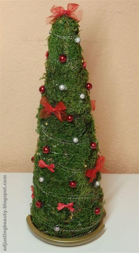 diy mini christmas tree decor foam tree bows beads