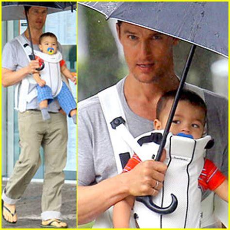 Its A Baby Boy For Matthew Camila by Matthew Mcconaughey Rainy Post Stroll With