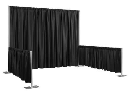 black pipe and drape dance floor staging
