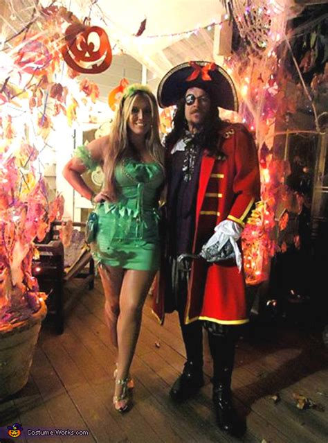captain hook tinkerbell couple costume