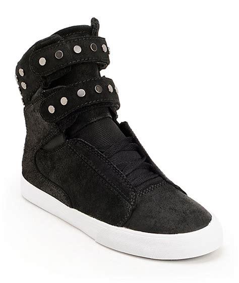 shoes womens supra tk society black pinksupra blacksupra new yorkusa official online shop p supra womens tk society studded black waxed high top shoes