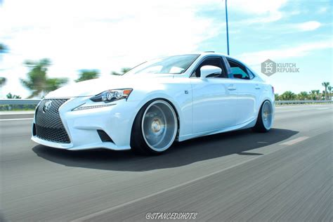 stanced 2014 lexus is250 lexus is 250 350 on klutch wheels km20 silver 19x10