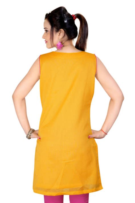 dori pattern kurti buy yellow cotton dori work kurti online