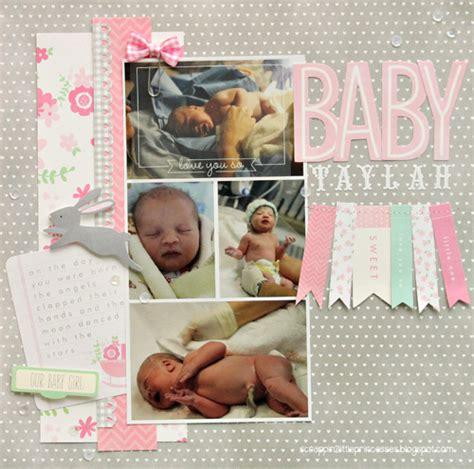 scrapbook layout baby girl baby girl scrapbook layout pebbles inc
