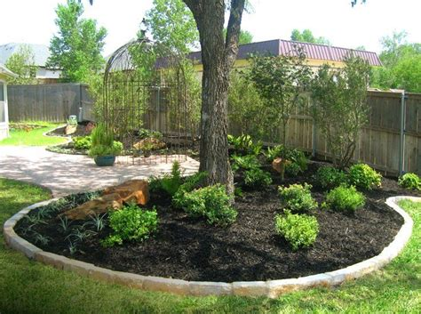 modest landscaping around trees landscape designs for your home