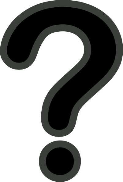 large printable question mark black and grey question mark clip art at clker com